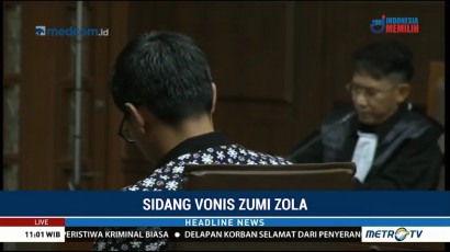 Zumi Zola Jalani Sidang Vonis Hari Ini