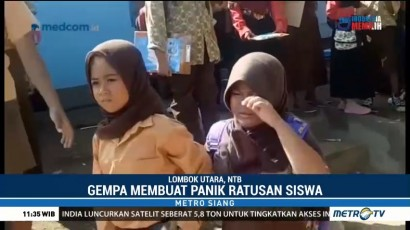 Gempa 5,7 SR Buat Warga Lombok Panik dan Berhamburan ke Luar