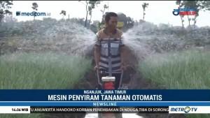 Inovasi Mesin Penyiram Tanaman Otomatis Karya Petani di Nganjuk