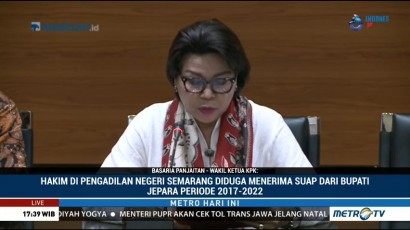 Hakim PN Semarang dan Bupati Jepara Jadi Tersangka Suap
