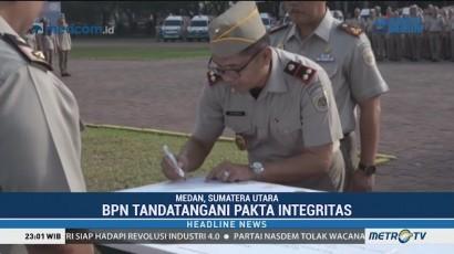 BPN Sumut Teken Pakta Integritas Tolak Korupsi dan Pungli