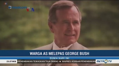 Warga AS Melepas George HW Bush