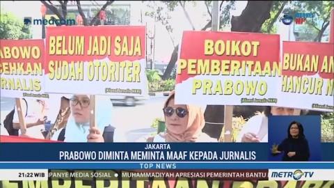 Aliansi Jurnalis NKRI Tuntut Prabowo Minta Maaf
