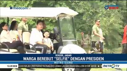 Jokowi dan Keluarga Berakhir Pekan di Kebun Raya Bogor