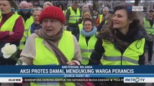 Demonstrasi Gerakan Rompi Kuning Menjalar ke Belanda dan Belgia