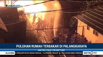 Kebakaran Landa Permukiman Padat Penduduk di Palangkaraya
