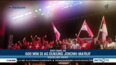 Ratusan WNI di AS Dukung Jokowi-Ma'ruf