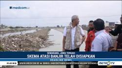 Ganjar Pranowo Tinjau Banjir Kanal Timur Semarang