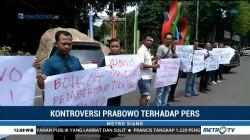 Wartawan di Bojonegoro Boikot Prabowo