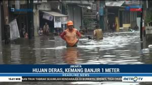 Kemang Utara Banjir Setinggi Satu Meter