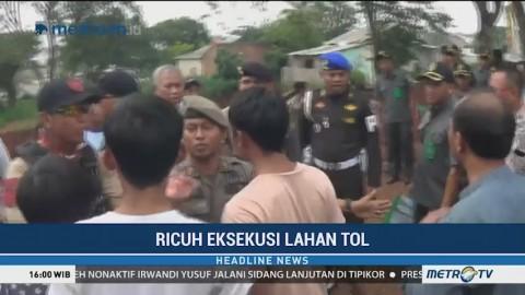 Eksekusi Lahan di Tol Cijago Berlangsung Ricuh