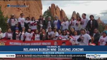 Relawan Buruh di Colorado AS Deklarasi Dukung Jokowi-Ma'ruf