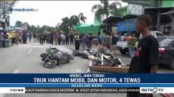 Truk Hantam Mobil dan Motor di Brebes, 4 Orang Tewas