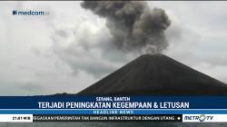 Jumlah Kegempaan dan Letusan Gunung Anak Krakatau Meningkat