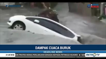 Kota Malang Diterjang Banjir