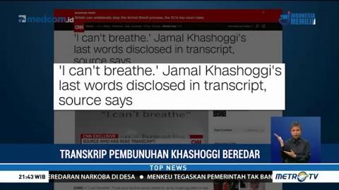 Transkrip Pembunuhan Jamal Khashoggi Beredar