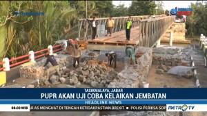 Jembatan Sementara Cipatujah akan Diuji Coba