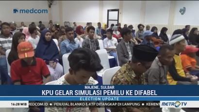 KPU Majene Gelar Simulasi Pemilu Bagi Kaum Difabel