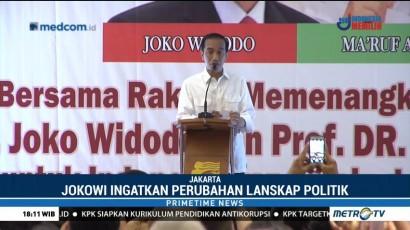 Jokowi Ingatkan Relawan Jangan Terlena Hasil Survei
