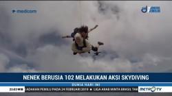 Nenek Berusia 102 Tahun Pecahkan Rekor Skydiving
