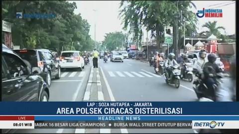 Suasana Sterilisasi Area Polsek Ciracas