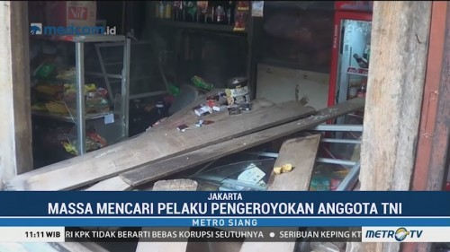 Rumah Terduga Pengeroyok Anggota TNI Diobrak-abrik Sekelompok
