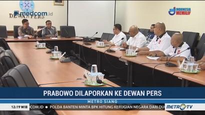 Rumah Gerakan 98 Adukan Prabowo ke Dewan Pers