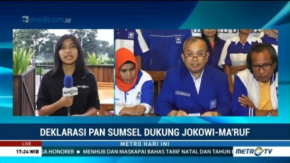 DPW PAN Sumsel Deklarasi Dukung Jokowi-Ma'ruf