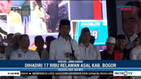 17 Ribu Relawan di Bogor Deklarasi Dukung Jokowi-Ma'ruf