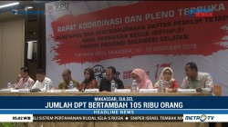 Perbaikan DPT, Jumlah Pemilih di Sulsel Bertambah 105 Ribu Orang