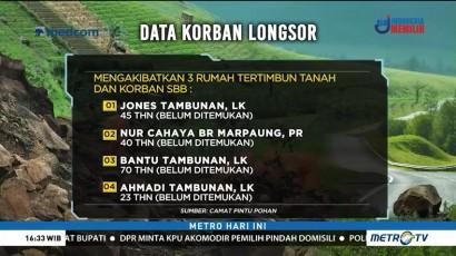 Daftar Korban Longsor di Toba Samosir