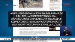 Anies Bantah Tarif Parkir di DKI Naik Rp50 Ribu per Jam