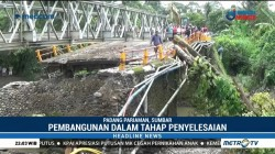 Menteri PUPR Tinjau Pembangunan Jembatan Darurat di Jalur Lintas Sumatera