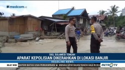 Polres Sigi Kerahkan Personel Amankan Lokasi Banjir Bandang