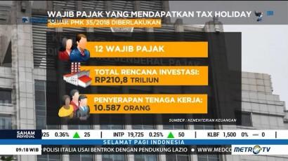 12 Wajib Pajak Dapat Fasilitas Tax Holiday