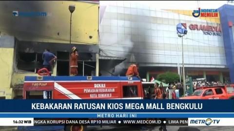 Mega Mall Bengkulu Terbakar