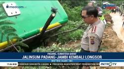Longsor di Jalinsum Padang-Jambi Timbun 3 Kendaraan