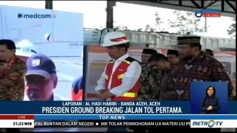 Jokowi Resmikan Sejumlah Proyek Strategis di Aceh