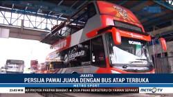 Bus Atap Terbuka Disiapkan untuk Pawai Juara Persija Jakarta