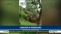 Detik-detik Tebing Longsor di Wonosobo