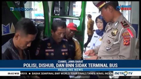 Sidak Gabungan Transportasi Darat di Terminal Ciamis
