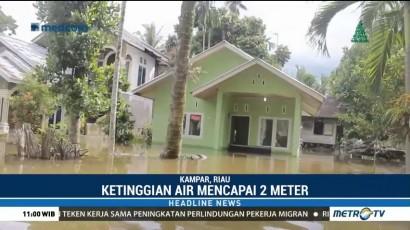 8 Kecamatan di Riau Masih Terendam Banjir