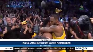 Persahabatan LeBron James dan Dwyane Wade di Tengah Lapangan