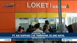 Jelang Libur Natal, Stasiun KA Bojonegoro Siapkan 2 Gerbong Tambahan