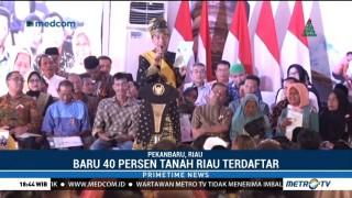 Jokowi Bagikan 6 Ribu Sertifikat Tanah di Pekanbaru