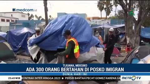 Ratusan Imigran Ilegal Masih Bertahan di Perbatasan AS