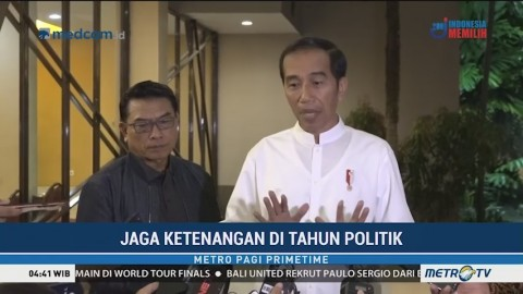 Jokowi Minta Jangan Ada yang Memanas-manasi Soal Perusakan Atribut Demokrat