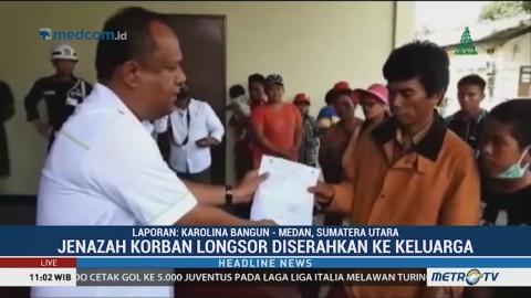 Satu Jenazah Korban Longsor di Toba Samosir Diserahkan ke