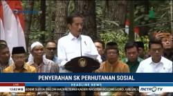 Jokowi Serahkan SK Perhutanan Sosial ke Masyarakat Jambi