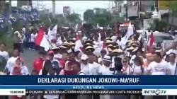 Ribuan Relawan Jokowi-Ma'ruf Ikuti Jalan Sehat di Jember